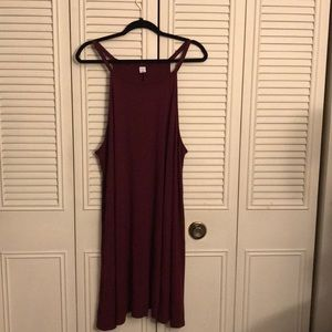 Old Navy maroon swing dress.